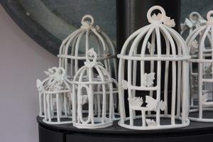 Véronique L.Tessier-Cages en porcelaine