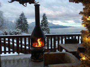 Boldie noir terrasse Montreux